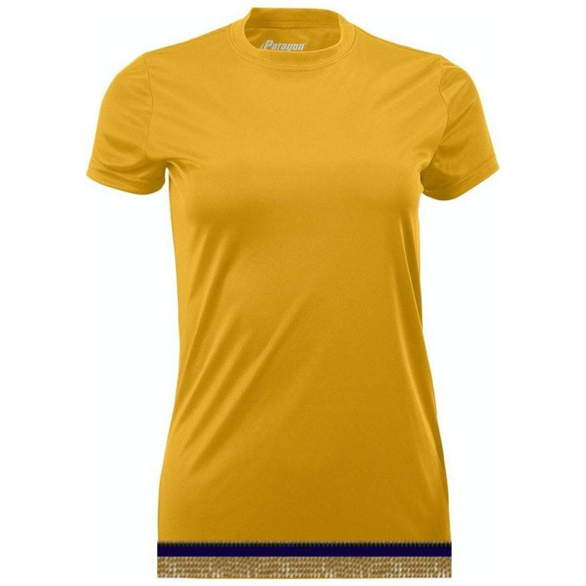 Women's Gold Performance Shirt With Fringes