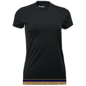 Women's Black Performance Shirt With Fringes