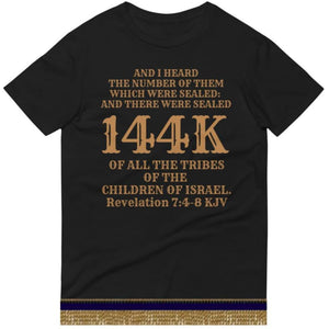 Israelite 144K Short Sleeve T-Shirt With Gold Fringes