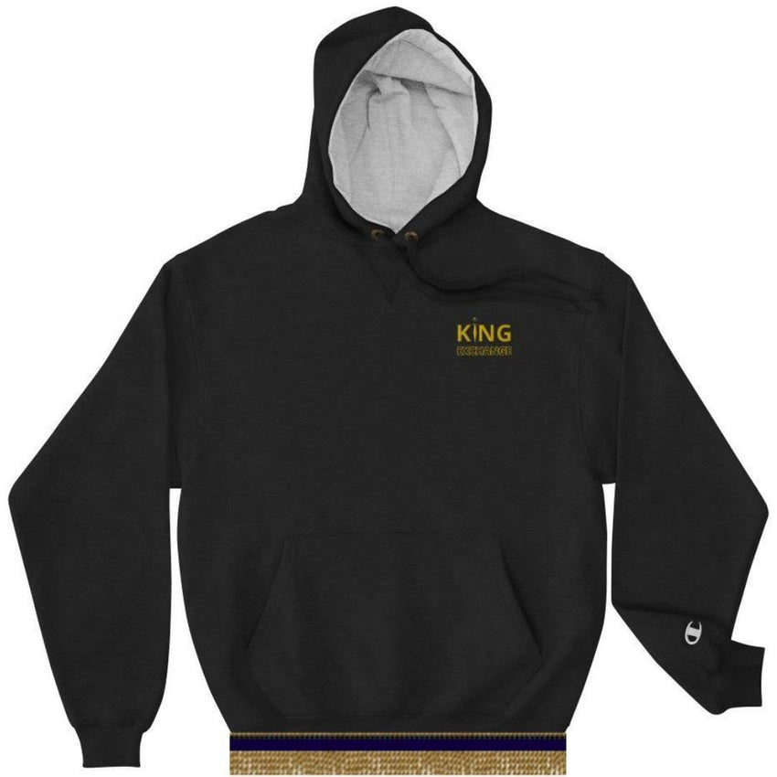 King Exchange Champion Hoodie With Gold Fringes