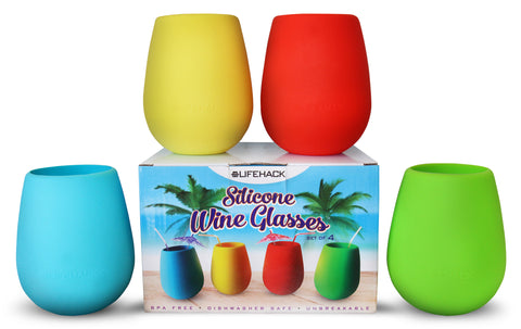 Color Silicone Wine Glasses - MrLifeHack