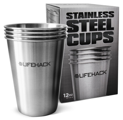 Stainless Steel Cups Available in 3 Sizes - MrLifeHack
