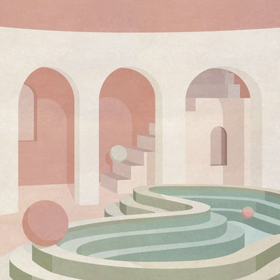 Curved Pool - Limited Edition Print