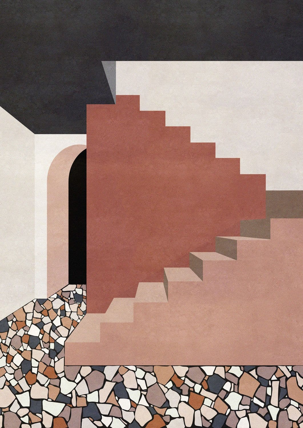Terrazzo Interior - Limited Edition Print by Charlotte Taylor | Shop Prints | Greenhouse Interiors