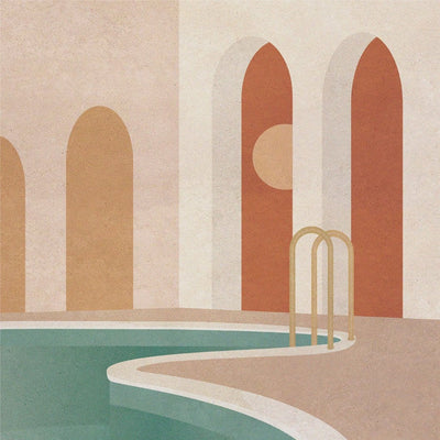 Morning Pool - Limited Edition Print
