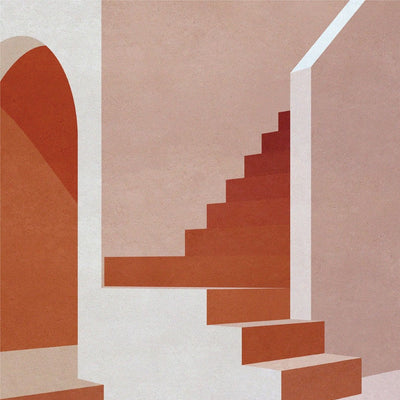 Staircase in Pink - Limited Edition Print