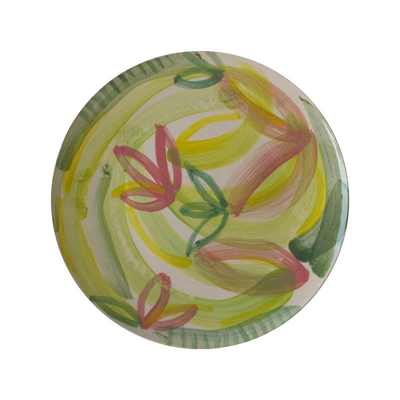 Number Six Collaboration Art Plate by Karen Morton | Shop Ceramics | Greenhouse Interiors