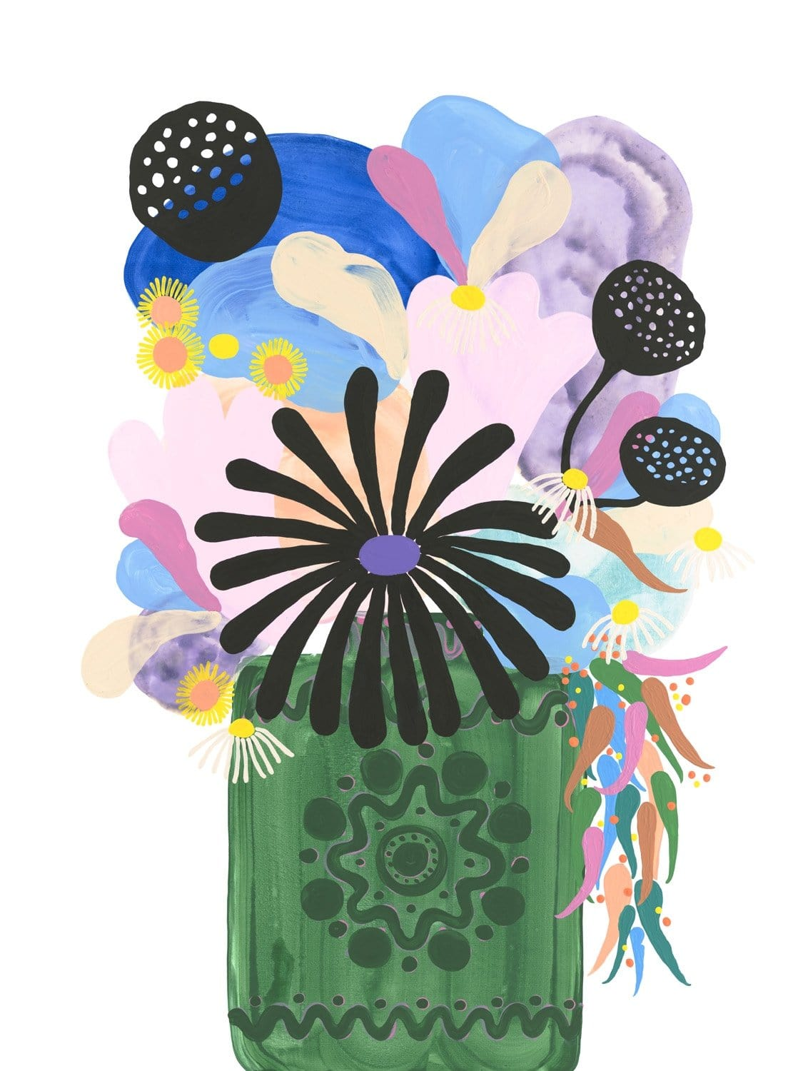 Arrangement IV (Green Vase) - Limited Edition Print-Prints-Madeleine Stamer-Greenhouse Interiors