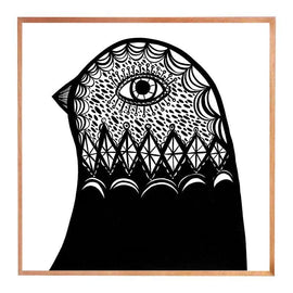 Madeleine Stamer B & W Bird Head facing left Prints
