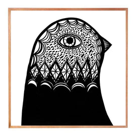 Madeleine Stamer B & W Bird Head facing right Prints