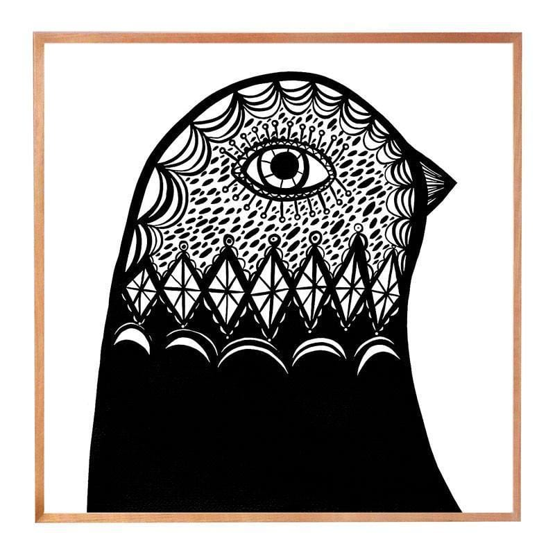 B & W Bird Head Facing Right by Madeleine Stamer | Shop Prints | Greenhouse Interiors