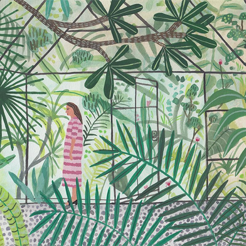 Green House Girl - Print-Prints-Miranda Sofroniou-Greenhouse Interiors