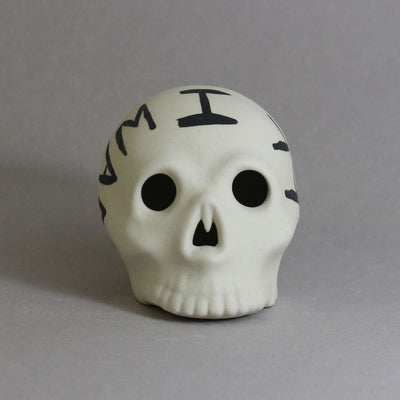 Medium Skull All I want is more time - Ceramics