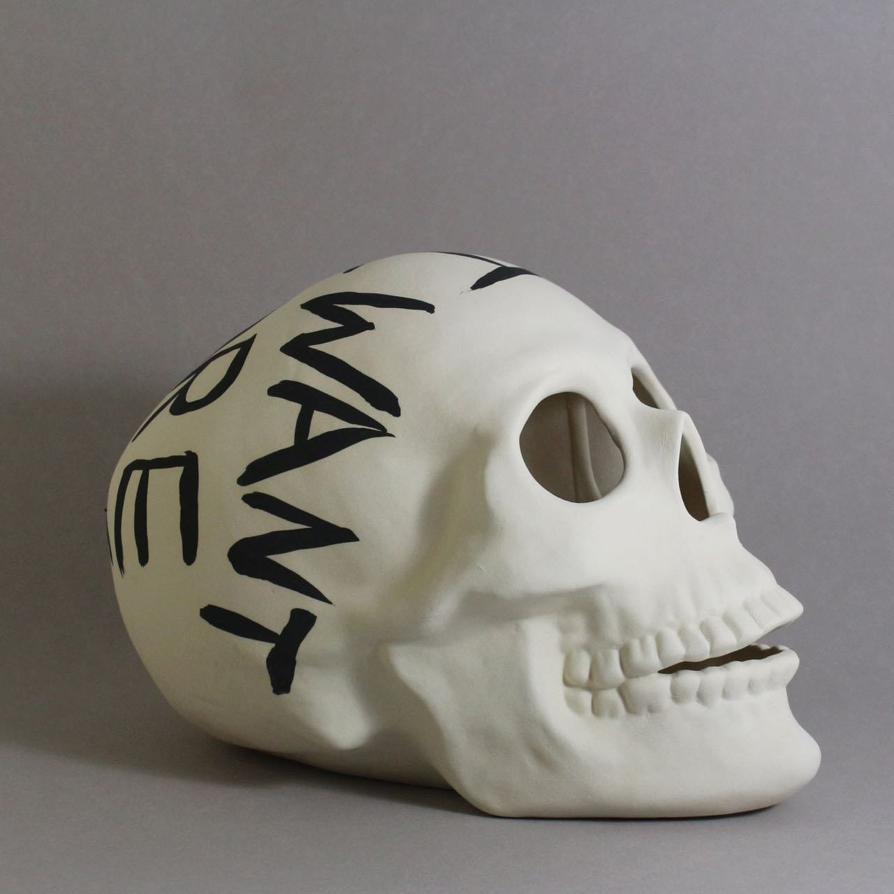 Large Skull All I want is more time - Ceramics-Ceramics-Iggy & Lou Lou-Greenhouse Interiors
