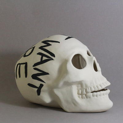Large Skull All I want is more time - Ceramics