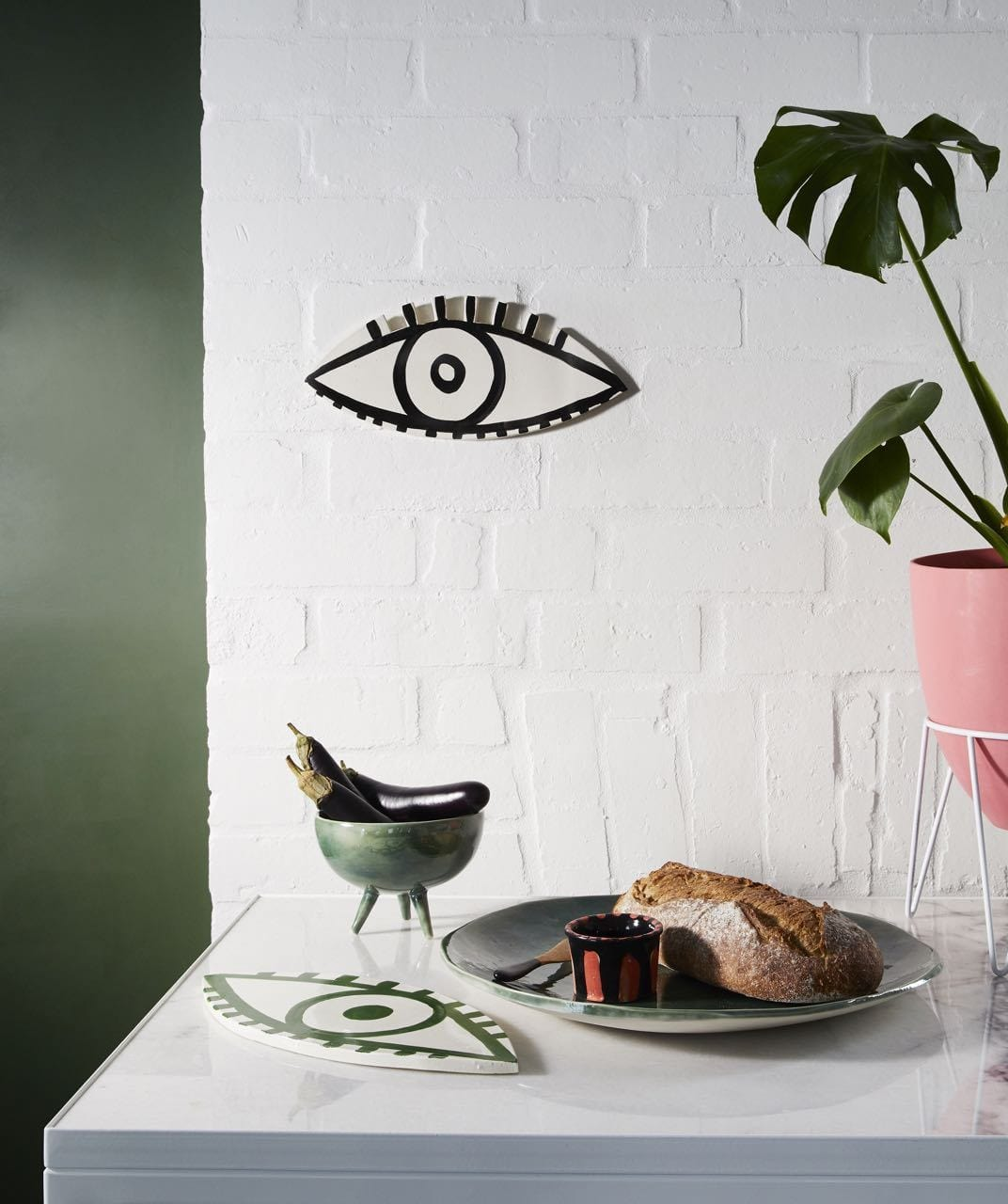 Black Looksie Eye by Karen Morton | Shop Ceramics | Greenhouse Interiors