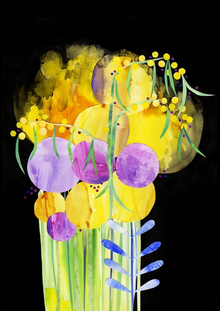 Madeleine Stamer Yellow Cosmos Prints