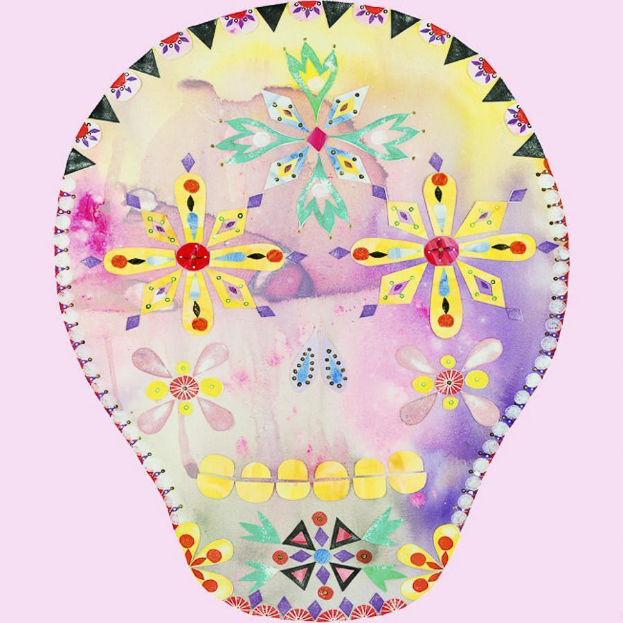 Calavera Pink by Madeleine Stamer | Shop Prints | Greenhouse Interiors