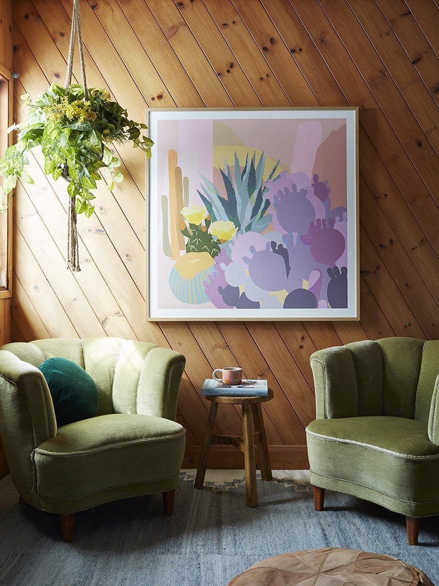 Cactus Garden - Print by Leah Bartholomew | Shop Prints | Greenhouse Interiors