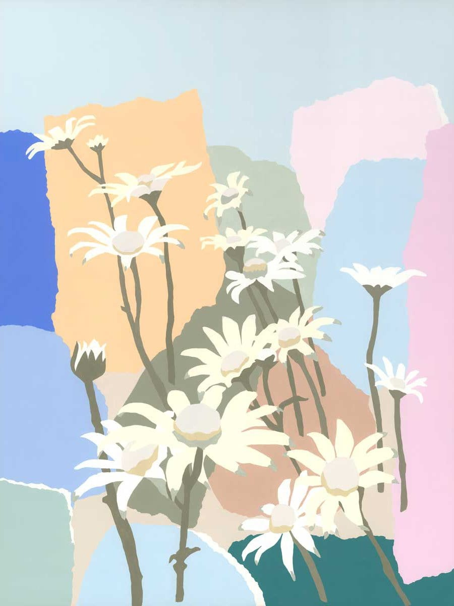 Flannel Flowers In The Rocks - Print