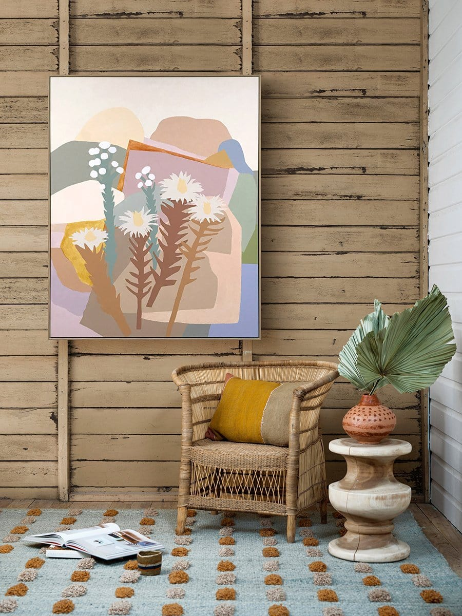 Sun Setting On Joshua Tree - Original Art-Original Art-Leah Bartholomew-Greenhouse Interiors