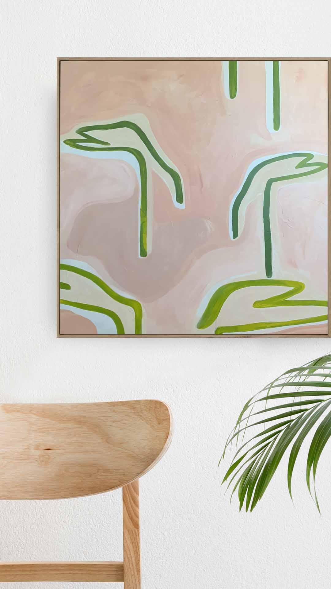 Palm Birds Pink Lake East - Print-Prints-Bibi Ana + Co-Greenhouse Interiors