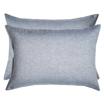 Linen Standard Pillowcase Set - Chambray