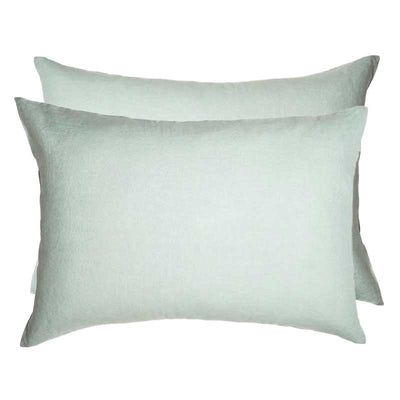 Linen Standard Pillowcase Set - Sea Mist
