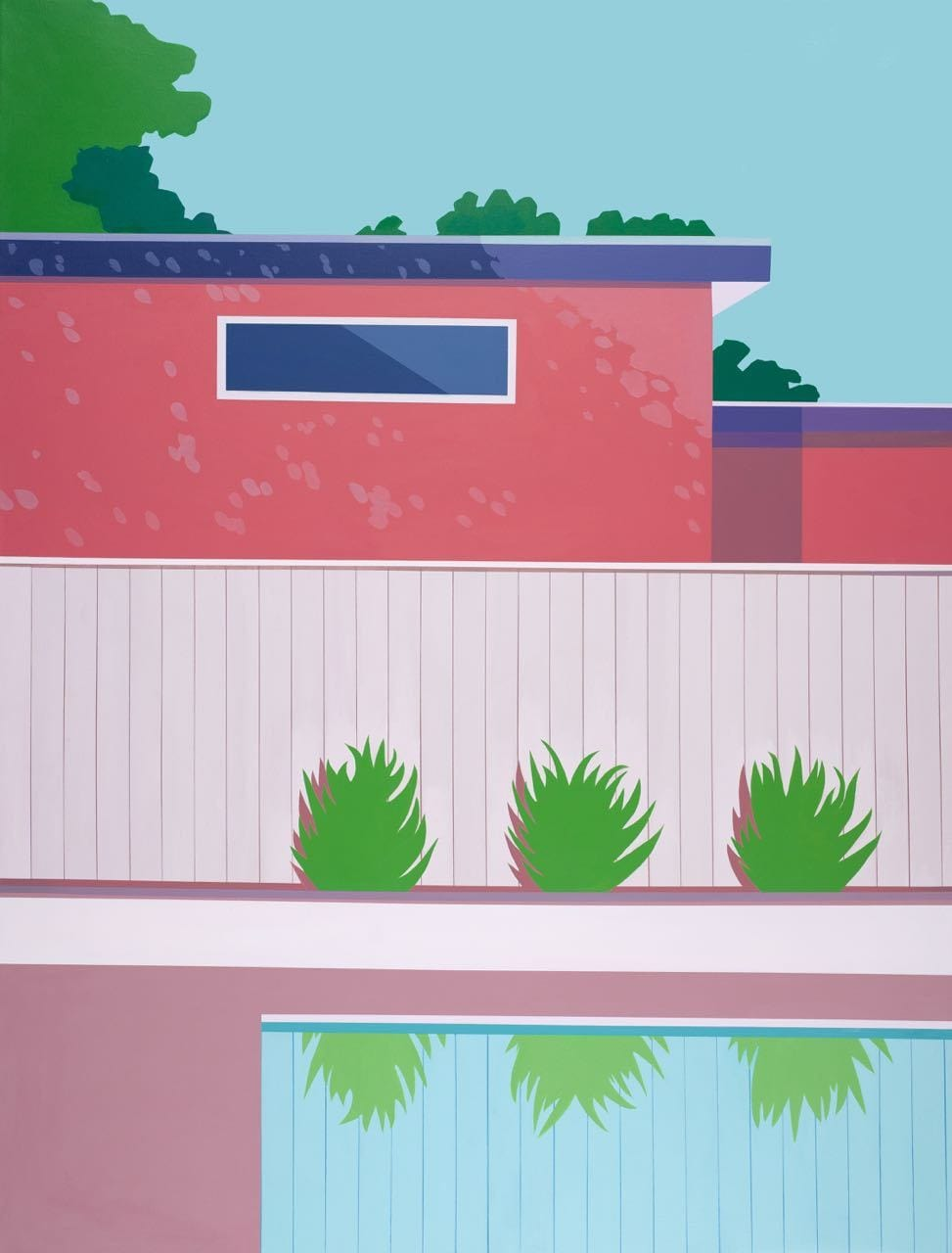Pink Suberbia - Original Art-Original Art-Kate Jansen-Greenhouse Interiors