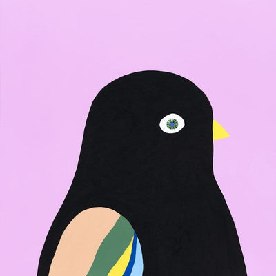 Song Bird I (Black Bird) - Print