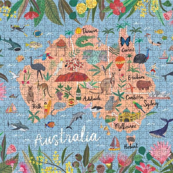 1000 Piece Puzzle - Australia by Journey of Something | Shop Puzzles | Greenhouse Interiors