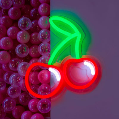 Viva Las Cherries (large) - Neon Lighting