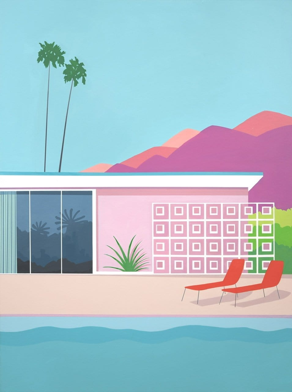 Palm Oasis - Limited Edition Print-Prints-Kate Jansen-Greenhouse Interiors