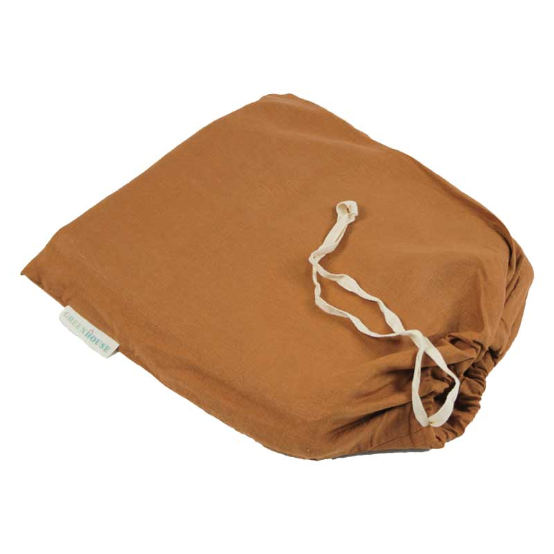 Linen Fitted Sheet - Tobacco-Bedding-Greenhouse-Greenhouse Interiors