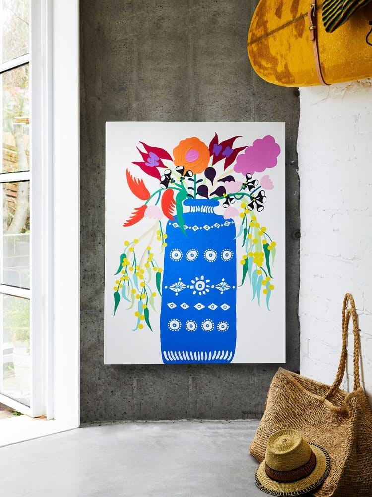 Arrangement I (Blue Vase With Florals) Print by Madeleine Stamer | Shop Prints | Greenhouse Interiors