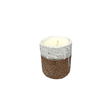 Raku Tall Ceramic Candle