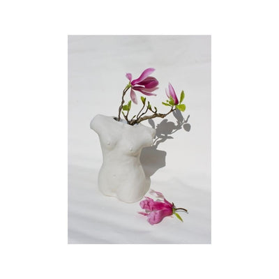 Porcelain Female Torso Vase