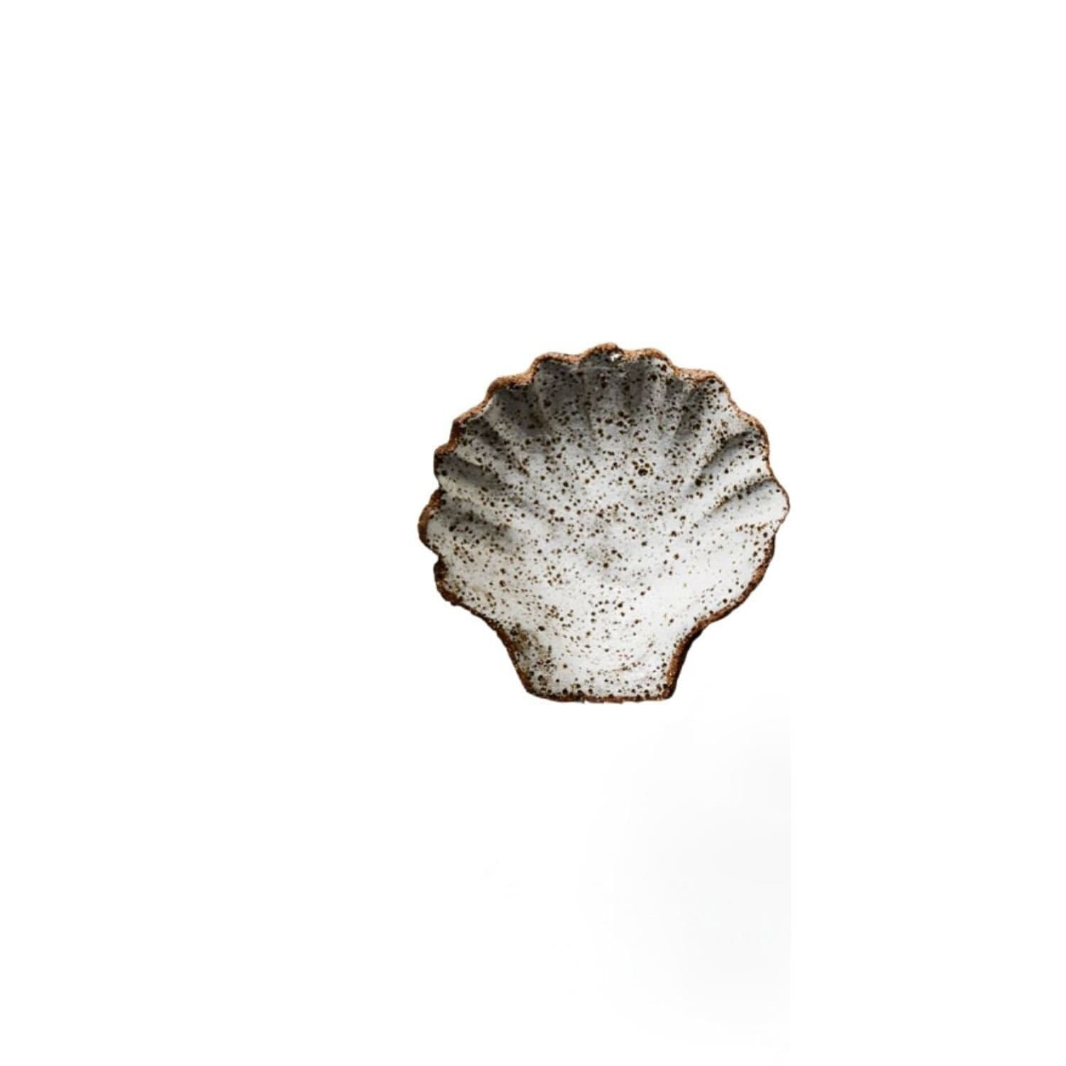 Raku Ceramic Seashell Dish