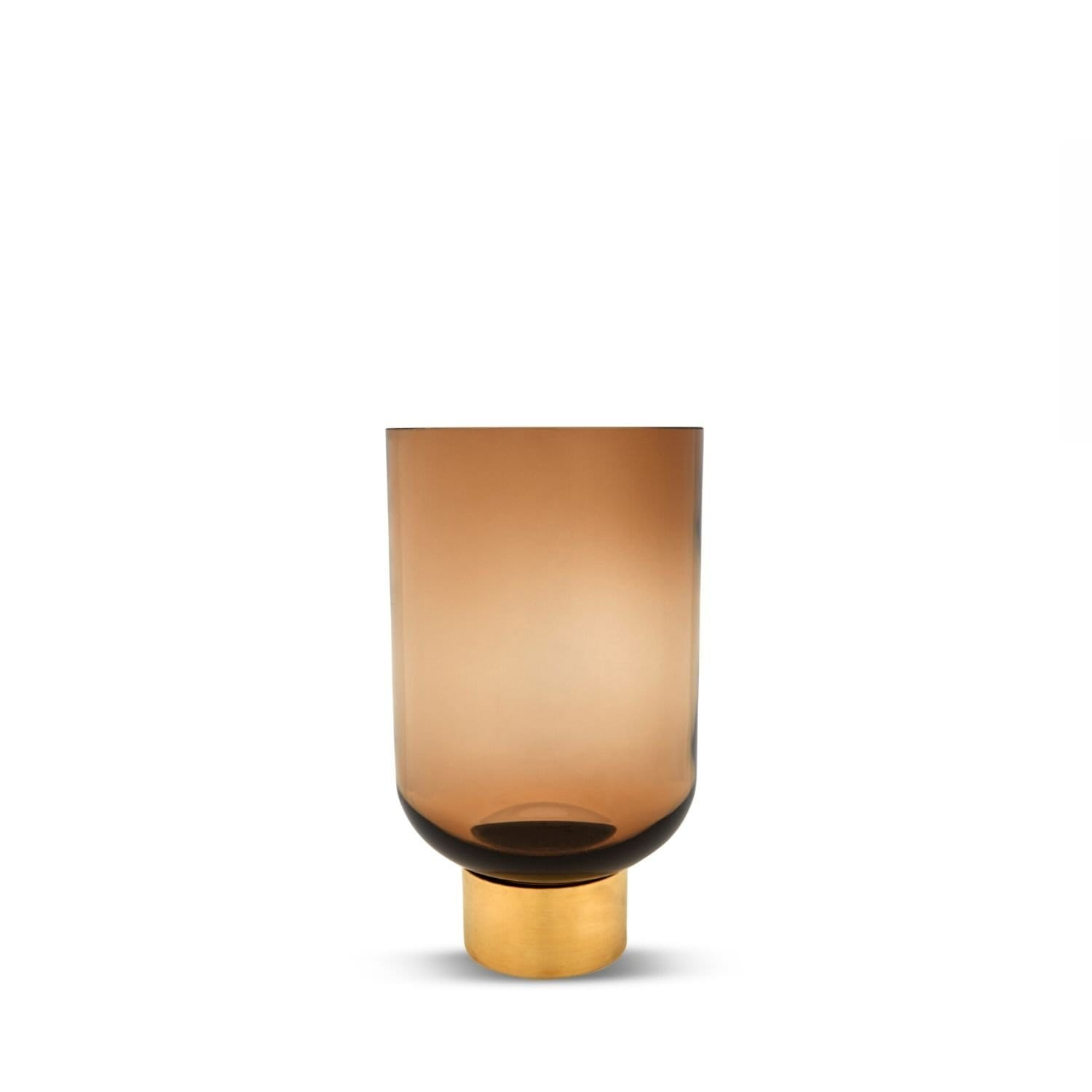 Luxor Glass Vase, Butterscotch M by Marmoset Found | Shop Glass | Greenhouse Interiors