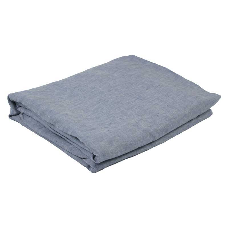 Linen Fitted Sheet - Chambray