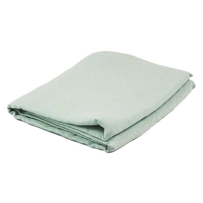 Linen Fitted Sheet - Sea Mist