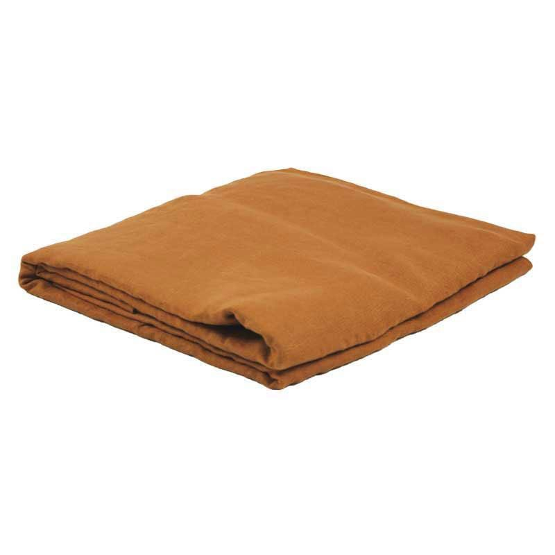Linen Fitted Sheet - Tobacco