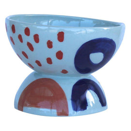 Blue Hourglass Bowl