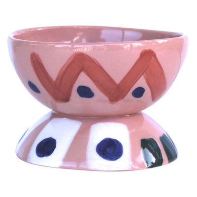 Orange Hourglass Bowl