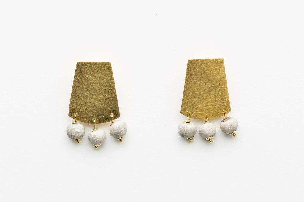 Azizi - Short Shield Earrings by Klaylife | Shop Jewellery | Greenhouse Interiors