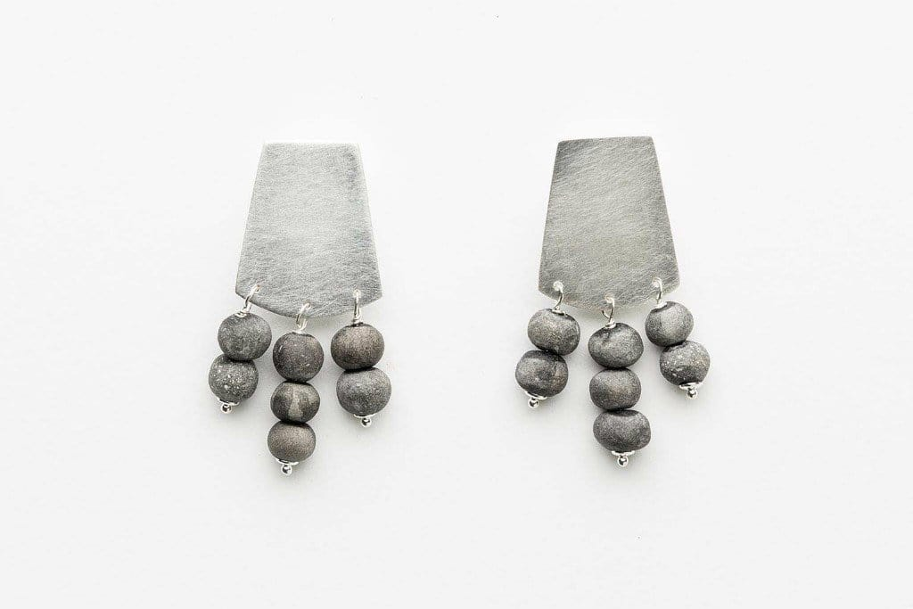 Kali - Short Shield, 7 Bead Earrings by Klaylife | Shop Jewellery | Greenhouse Interiors