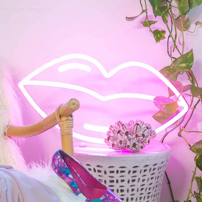 Momo x Electric Confetti Lips - Neon Lighting-Lighting-Electric Confetti-Greenhouse Interiors