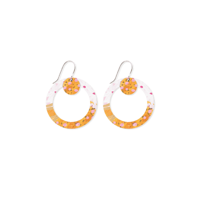 Morgan Jamieson Layered Small Circle Outline Drop Earrings