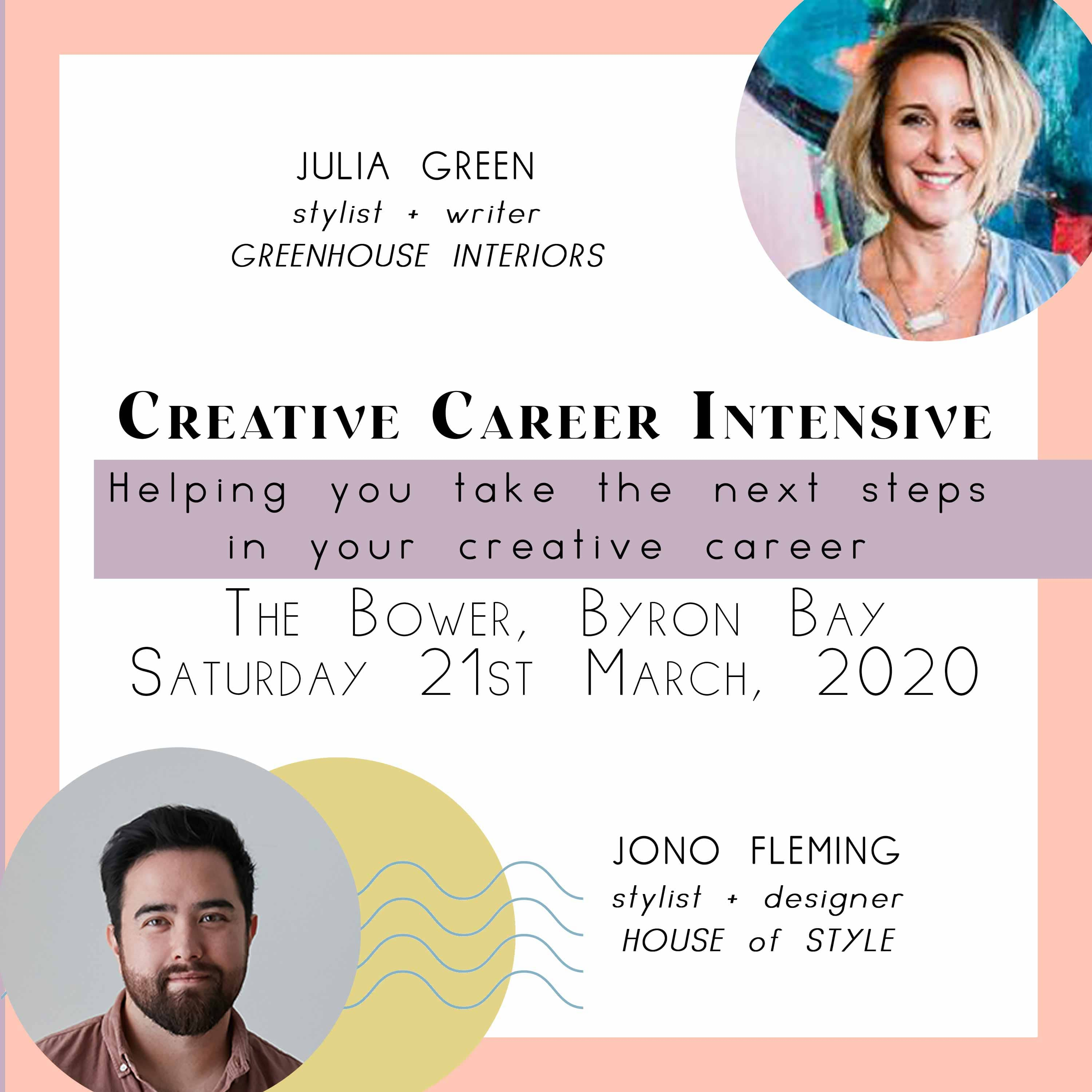 Creative Career Workshop at The Bower - Byron Bay (deposit)