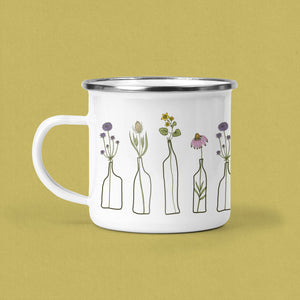 Flowers, in Bud Vases, Camp Mug. This, Botanical Mug, is the Perfect, Mothers Day Gift.